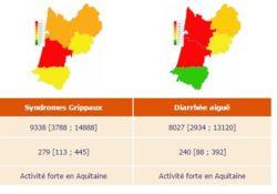 la grippe rentre aussi par l'Aquitaine