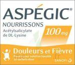 ASPEGIC NOURRISSONS 100 mg, poudre pour solution buvable en sachet-dose à Poitiers