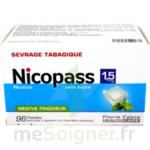 NICOPASS 1,5 mg SANS SUCRE MENTHE FRAICHEUR, pastille édulcorée à l'aspartam et à l'acésulfame potassique à Poitiers