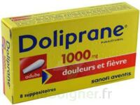 DOLIPRANE 1000 mg Suppositoires adulte 2Plq/4 (8) à Poitiers