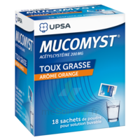 MUCOMYST 200 mg Poudre pour solution buvable en sachet B/18 à Poitiers
