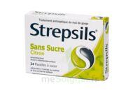 STREPSILS CITRON SANS SUCRE, pastille édulcorée à l'isomalt, au maltitol et à la saccharine sodique à Poitiers