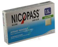 Nicopass 1,5 mg Pastille eucalyptus sans sucre Plq/12 à Poitiers