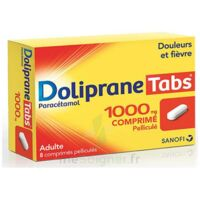 DOLIPRANETABS 1000 mg Comprimés pelliculés Plq/8 à Poitiers