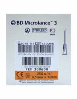 BD MICROLANCE 3, G25 5/8, 0,5 mm x 16 mm, orange  à Poitiers