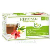 Herbesan Infusion Bio Tisane Détox 20 Sachets