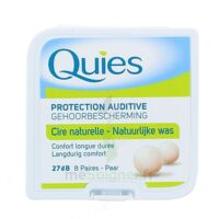 QUIES PROTECTION AUDITIVE CIRE NATURELLE 8 PAIRES