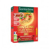 Santarome Bio Ginseng Gelée royale Guarana Acérola Solution buvable 20 Ampoules/10ml à Poitiers