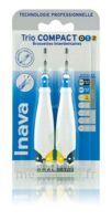 Inava Brossettes Tri Compact étroit  012 Noir 0,6mm/ Bleu 0,8mm/ Jaune 1mm à Poitiers