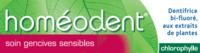 Boiron Homéodent Soin Gencives Sensibles Pâte Dentifrice Chlorophylle 2T/75ml à Poitiers