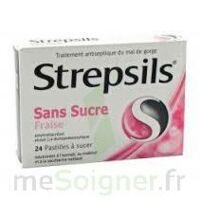 STREPSILS FRAISE SANS SUCRE, pastille édulcorée à l'isomalt, au maltitol et à la saccharine sodique à Poitiers