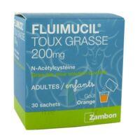 FLUIMUCIL EXPECTORANT ACETYLCYSTEINE 200 mg SANS SUCRE, granulés pour solution buvable en sachet édulcorés à l'aspartam et au sorbitol à Poitiers
