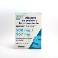 ALGINATE DE SODIUM/BICARBONATE DE SODIUM SANDOZ 500 mg/267 mg, suspension buvable en sachet à Poitiers