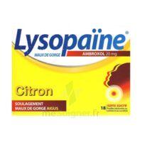 LysopaÏne Ambroxol 20 Mg Pastilles Maux De Gorge Sans Sucre Citron Plq/18 à Poitiers