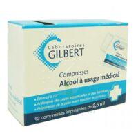 ALCOOL A USAGE MEDICAL GILBERT 2,5 ml, compresse imprégnée à Poitiers