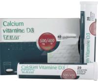 CALCIUM VITAMINE D3 TEVA 500 mg/400 UI, comprimé à sucer ou à croquer à Poitiers