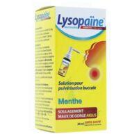LYSOPAÏNE AMBROXOL 17,86 mg/ml Solution pour pulvérisation buccale maux de gorge sans sucre menthe Fl/20ml à Poitiers