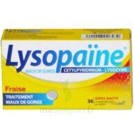 LYSOPAÏNE MAUX DE GORGE CETYLPYRIDINIUM LYSOZYME FRAISE SANS SUCRE, comprimé à sucer édulcoré au sorbitol et à la saccharine à Poitiers