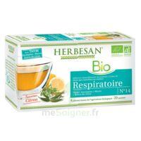 Herbesan Thym Bio Tisane Respiratoire 20 Sachets
