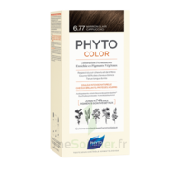 Phytocolor Kit Coloration Permanente 6.77 Marron Clair Cappuccino à Poitiers