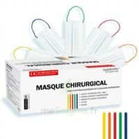 Masques Chirurgicaux Couleur Blanc Elastiques Colorés Boite De 50 à Poitiers