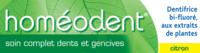 Boiron Homéodent Soin Complet Dents et Gencives Pâte Dentifrice Citron 2T/75ml à Poitiers