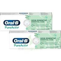 Oral B Pureactiv Dentifrice soin essentiel 2T/75ml à Poitiers
