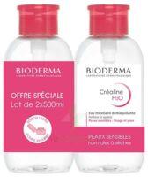 CREALINE H2O Solution micellaire nettoyante apaisante sans parfum 2Fl pompe inversée/500ml à Poitiers