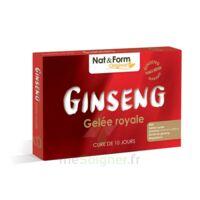 Nat&form Naturellement Ginseng Gelée Royale Solution Buvable Bio 2b/30 Ampoules/10ml à Poitiers